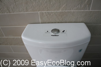 dual flush toilet from Toto