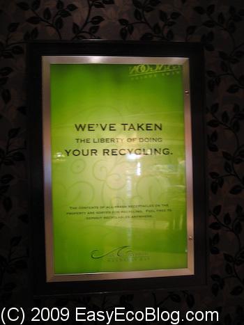 Mandalay Bay, Las Vegas, Recycling