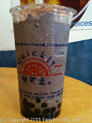 quickly bubble tea, tapioca pearls