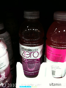 vitamin water zero sugar fructose soda obesity