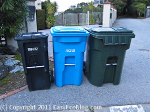 recycle bins, recycling bins