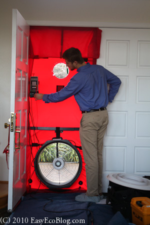 Home Energy Audit Blower Test