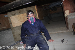Home Energy Audit Crawlspace Inspection